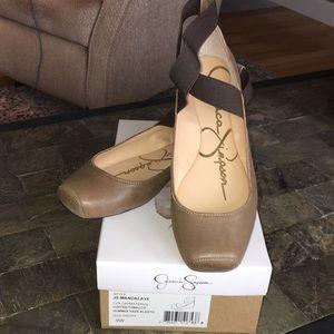 NWT Jessica Simpson Leather Flats Mandalaye